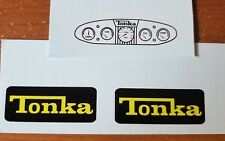 BLACK TONKA  BULLDOZER DECAL SET WITH OVAL DASH
