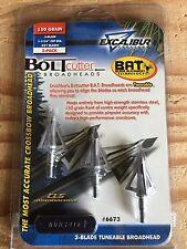 Excalibur Bolt Cutter BAT Tuneable Crossbow Broadheads 150 grain - Three Pack