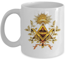 Freemason coffee mug - Freemasonry GODF old eye symbol  Masonic accessories gift
