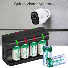 RCR123A Battery 8 Slot Charger 3.7V Arlo Efficient Battery Charging Adapter