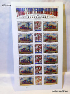 18 Forever USPS Transcontinental Rail Road Stamps Train Chrismas Rare NEW
