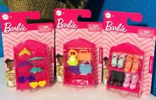 Barbie Doll Fashion Accessories Handbags, Shoes, Headbands W/ Store Shelf 3-Pack