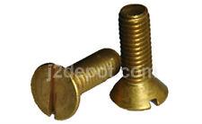 """Brass Machine Screw Slot Flat 8-32 x 3"""" (100pcs)"""