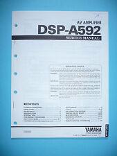 Service Manual für Yamaha DSP-A592  ,ORIGINAL