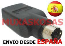 ADAPTADOR USB A PS2 CONVERTIDOR CONVERSOR PARA RATON O TECLADO