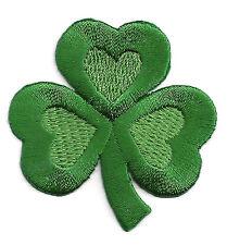 "SHAMROCK,CLOVER,GREEN SHADES(1 3/4"") - -Iron On Patch/St. Patricks, Irish"