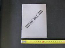moto MI - VAL mival Libretto manutenzione Manuale/Istruzioni/Instructions Book
