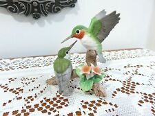 "Vintage Andrea By Sadek Hummingbird With Baby 3 1/2"" Figurine"