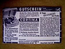 Werbeanzeige – Original-Marken-Phonokoffer CORTINA um 1955