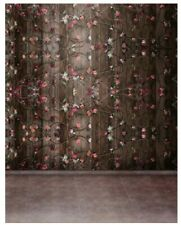Wooden Flower Wall Vintage Photography Photo BACKDROP