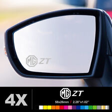 MG ZT SYMBOL WING MIRROR ETCHED GLASS CAR VINYL DECALS STICKERS SILVER ETCH