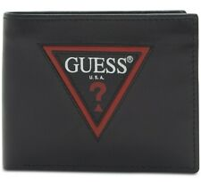 Guess Men's Zip Logo RFID Leather Passcase Wallet BNIB