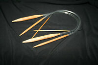 1 CARBONIZED BAMBOO KNITTING NEEDLES 40 cm long Flexible cable  2 mm to 10 mm