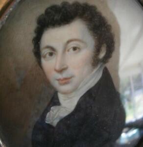FINE GEORGIAN PORTRAIT MINIATURE of a GENTLEMAN by THOMAS PEAT Dated 1818