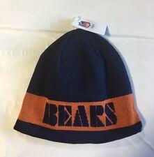 Chicago Bears Knit Beanie Winter Hat Toque Skull Cap NEW Block reversible