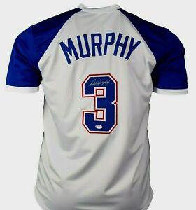 DALE MURPHY  SIGNED  CUSTOM  XL  ATLANTA MINT, WHITE JERSEY, PSA COA #9A17560