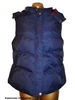 Ladies NAVY Quilted, Padded & Hooded Warm, Snug Gilet Bodywarmer 8 10 12 14 16