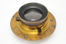 :Darlot Hemispherical No. 4 3-Stop Wide Angle 8x10 10x12 Large Format Brass Lens