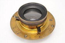 :Darlot Hemispherical No. 4 3-Stop Wide Angle 8x10 10x12 Large Format Brass Lens