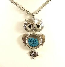 """New 30"""" Oval Link Chain Necklace with Adorable Owl pendant NWT #N2474"""