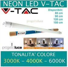 TUBI LED NEON V-TAC DA 10W A 22W LAMPADA TUBO G13  60cm - 90cm - 120cm - 150cm