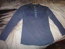 H&M Mens Logo Blue Sweatshirt Size M GENUINE