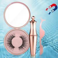 Magnetic eyeliner false eyelash set waterproof and No glue With durable A9D0