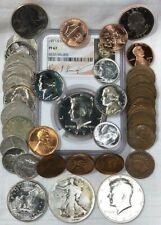 BIG US COIN LOT! ~ 45 US Coins ~ SILVER BU & PROOF ~ SEE PICS & LIST  NO RESERVE