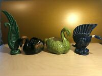 Lot of 4 Ceramic SWAN PLANTERS Display Pieces including Royal Haeger R904 USA