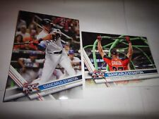 GIANCARLO STANTON, MIAMI MARLINS, 2017 TOPPS UPDATE US296, PARALLEL PRINTED