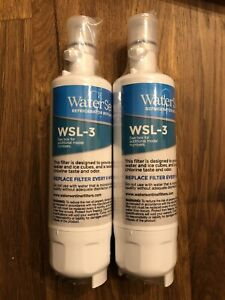 Two (2) WaterSentinel WSL-3 Refrigerator Replacement Filters LG Kenmore