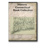 43 Old Connecticut CT State County History Family Genealogy Books - B307