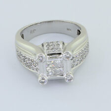 Custom Design Avianne & Co Mens Solid 14k White Gold Genuine 2.0 CT Diamond Ring
