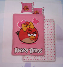 Angry Birds Duvet Set Bed Linen Girls Pink