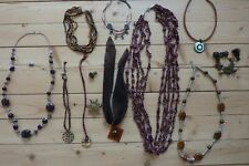 Lot bijoux de fantaisie couleur bordeaux / chocolat ( lot n°23 )