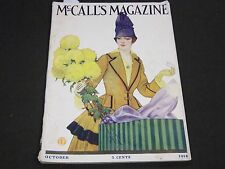 1916 OCTOBER MCCALL'S MAGAZINE - FASHION ILLUSTRATIONS - CUT OUT PAGE - ST 144