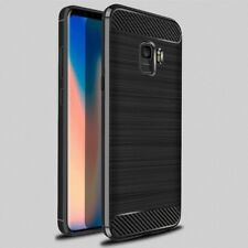 Galaxy S9 Plus Case [Rugged Armor] ShockProof Luxury TPU Cover Carbon Fiber -BLK