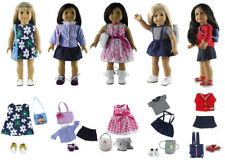 5 set Doll Clothes for 18'' American Girl Doll Princess Dress+shoes+bag