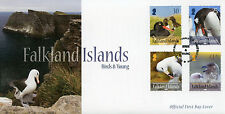 Falkland Islands 2015 FDC Birds & Young 4v Set Cover Penguins Albatross Skua