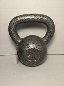 Weider Cast Iron Kettlebell, 30 lbs with Extra Wide Grip & Hammertone Finish