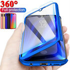 For Huawei P40 Lite P30 Pro P20 Mate 20 360° Full Case Cover + Tempered Glass