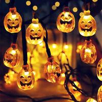 Halloween 80 LED 10M Pumpkin String Fairy Lights Fancy Party Indoor Home Decor
