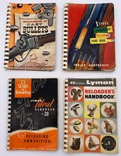 Vintage Lot of 4  - thee Lyman reloading manuals and Handbook of Cast Bullets