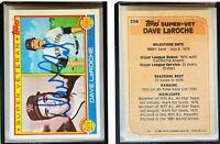 Dave LaRoche Signed 1983 Topps #334 Card California Angels Auto Autograph