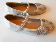 Walk Right Girls Silver Shimming  Smart Shoes Size 2 UK/ 34 EUR