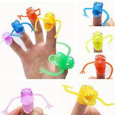 10 Pcs Finger Puppets Plastic Dinosaur Finger Toys Mini Gashapon Kids Toys To