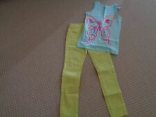 GAP Aqua Butterfly Sparkle Tank Top Yellow Skinny Jeans  6-6