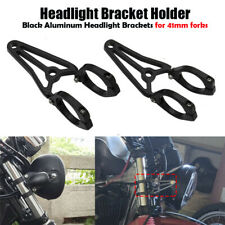 2x41MM Motorcycle Headlamp Bracket Parts Front Fork Headlight Mount Holder Clamp