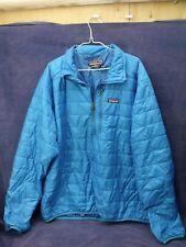 Patagonia Nano Puff Pullover Jacket Mens XXL Blue Half Zip
