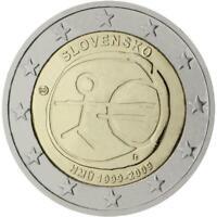Slovaquie 2009 Emu Dixième Anniversaire Union Économique et Monétaire